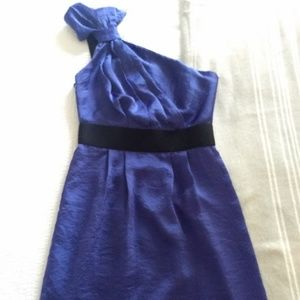 BCBGeneration Blue One Shoulder Dress